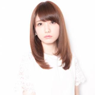モテ髪 ナチュラル ストレート コンサバ ヘアスタイルや髪型の写真・画像
