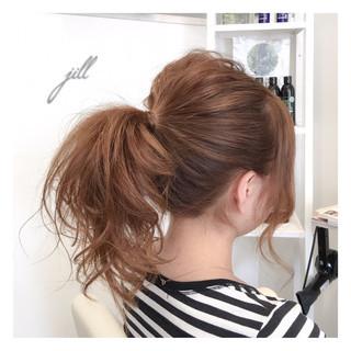ヘアアレンジ ショート セルフヘアアレンジ ポニーテール ヘアスタイルや髪型の写真・画像