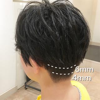 刈り上げ ナチュラル ベリーショート ショート ヘアスタイルや髪型の写真・画像