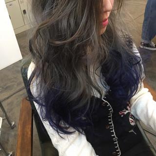 ミルクティー ブルージュ グラデーションカラー インナーカラー ヘアスタイルや髪型の写真・画像