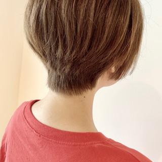 大人可愛い ハンサムショート ショートボブ 簡単スタイリング ヘアスタイルや髪型の写真・画像