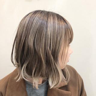 ボブ バレイヤージュ グラデーションカラー ハイライト ヘアスタイルや髪型の写真・画像 ヘアスタイルや髪型の写真・画像