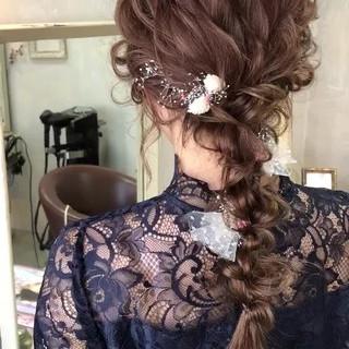 ヘアアレンジ 編み込み 上品 エレガント ヘアスタイルや髪型の写真・画像 ヘアスタイルや髪型の写真・画像