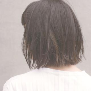 暗髪 ボブ 黒髪 ショートバング ヘアスタイルや髪型の写真・画像
