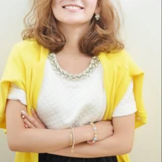 外国人風 モテ髪 セミロング コンサバ ヘアスタイルや髪型の写真・画像