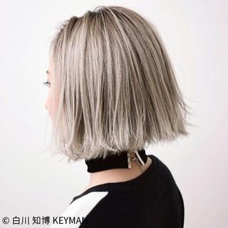 外国人風 ボブ ミルクティー ニュアンス ヘアスタイルや髪型の写真・画像