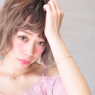 グラデーションカラー 外国人風カラー グレージュ ボブ ヘアスタイルや髪型の写真・画像