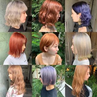 ハイライト ミディアム イルミナカラー モード ヘアスタイルや髪型の写真・画像