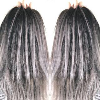 ミディアム 成人式 3Dハイライト ストリート ヘアスタイルや髪型の写真・画像