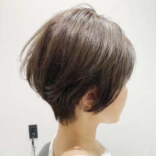 ナチュラル 小顔ヘア ショート 大人ヘアスタイル ヘアスタイルや髪型の写真・画像