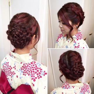 ヘアアレンジ 編み込み 和装 アップスタイル ヘアスタイルや髪型の写真・画像 ヘアスタイルや髪型の写真・画像