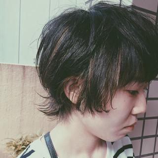 ハイライト 外国人風 ウルフカット ストリート ヘアスタイルや髪型の写真・画像