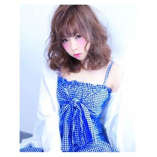 かわいい ガーリー フェミニン ゆるふわ ヘアスタイルや髪型の写真・画像