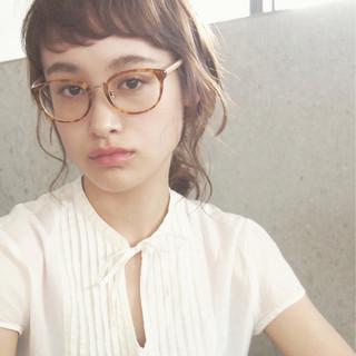 外国人風 大人かわいい ミディアム 簡単ヘアアレンジ ヘアスタイルや髪型の写真・画像