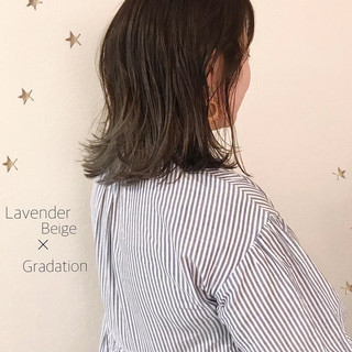 ミディアム グラデーション ストリート ゆるナチュラル ヘアスタイルや髪型の写真・画像