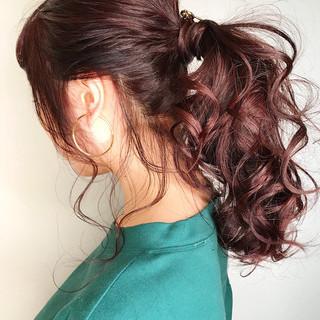 ヘアアレンジ 結婚式 ポニーテール 簡単ヘアアレンジ ヘアスタイルや髪型の写真・画像 ヘアスタイルや髪型の写真・画像