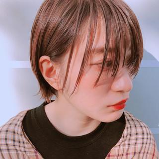 ショート ショートボブ グレーベージュ パーマ ヘアスタイルや髪型の写真・画像 ヘアスタイルや髪型の写真・画像