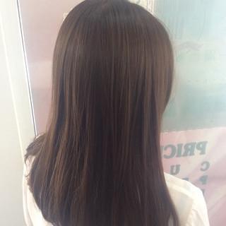 ナチュラル ヘアカラー セミロング イルミナカラー ヘアスタイルや髪型の写真・画像