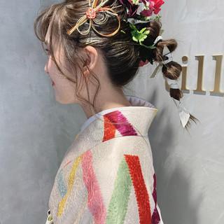 ポニーテール セミロング 卒業式 アンニュイほつれヘア ヘアスタイルや髪型の写真・画像