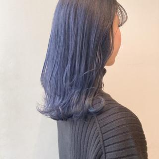 ラベンダー ラベンダーグレー ブルーラベンダー 透明感カラー ヘアスタイルや髪型の写真・画像