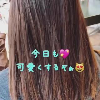 ヘアアレンジ ネイビーアッシュ ロング 外国人風カラー ヘアスタイルや髪型の写真・画像