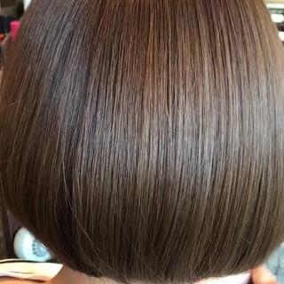 縮毛矯正 ストレート ナチュラル ボブ ヘアスタイルや髪型の写真・画像