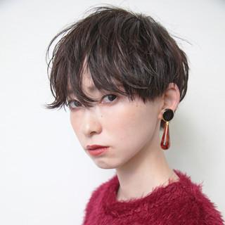 暗髪 グレージュ モード 女子力 ヘアスタイルや髪型の写真・画像