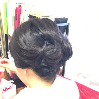 エレガント 和装 ミディアム 和装髪型 ヘアスタイルや髪型の写真・画像