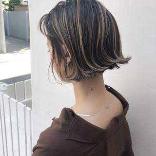 外国人風カラー ハイライト アンニュイほつれヘア ナチュラル ヘアスタイルや髪型の写真・画像
