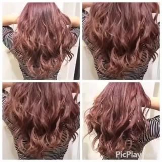 ベージュ ピンク 透明感 ハイライト ヘアスタイルや髪型の写真・画像