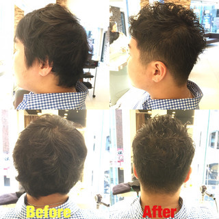 ショート 刈り上げ ストリート ボーイッシュ ヘアスタイルや髪型の写真・画像