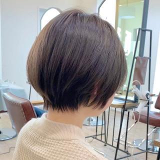 ベリーショート ショートボブ ナチュラル インナーカラー ヘアスタイルや髪型の写真・画像