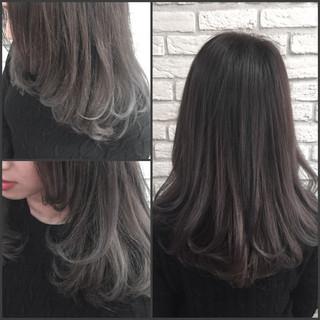 ストリート イルミナカラー グラデーションカラー アッシュ ヘアスタイルや髪型の写真・画像