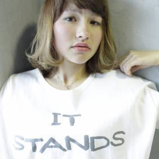 丸顔 ガーリー モテ髪 ナチュラル ヘアスタイルや髪型の写真・画像