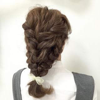 ヘアアレンジ ゆるふわ フェミニン ミディアム ヘアスタイルや髪型の写真・画像