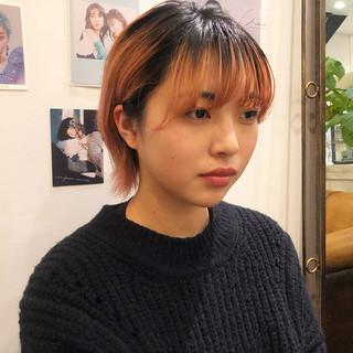 ショート ダブルカラー モード ウルフカット ヘアスタイルや髪型の写真・画像 ヘアスタイルや髪型の写真・画像