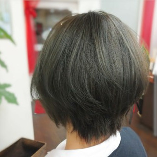 ボブ アッシュ アディクシーカラー ショートボブ ヘアスタイルや髪型の写真・画像