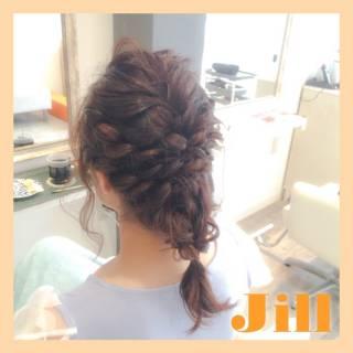 ショート 結婚式 ヘアアレンジ ねじり ヘアスタイルや髪型の写真・画像