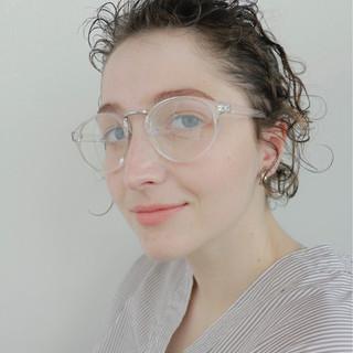 ナチュラル ヘアアレンジ 前髪パーマ くせ毛風 ヘアスタイルや髪型の写真・画像