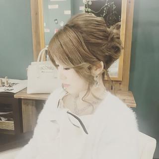 エレガント バレンタイン 上品 結婚式 ヘアスタイルや髪型の写真・画像