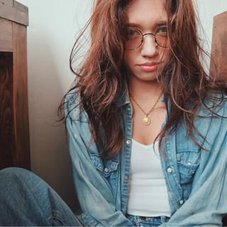 シースルーバング 外国人風 グラデーションカラー 大人かわいい ヘアスタイルや髪型の写真・画像