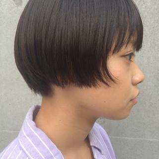 伸ばしかけ 暗髪 ストリート ボブ ヘアスタイルや髪型の写真・画像