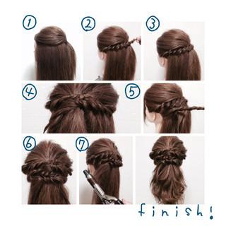セミロング ハーフアップ ゆるふわ ヘアアレンジ ヘアスタイルや髪型の写真・画像 ヘアスタイルや髪型の写真・画像