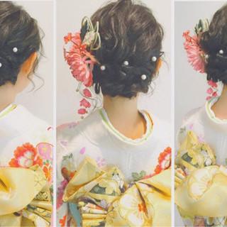 ゆるふわ ヘアアレンジ 大人かわいい ミディアム ヘアスタイルや髪型の写真・画像