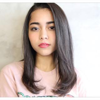 ストレート 艶髪 マット パーマ ヘアスタイルや髪型の写真・画像