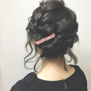 ヘアアレンジ 袴 フェミニン セミロング ヘアスタイルや髪型の写真・画像