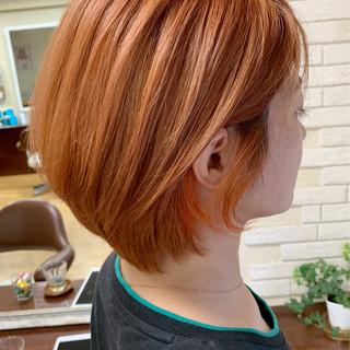 ショート インナーカラー ストリート ショートボブ ヘアスタイルや髪型の写真・画像