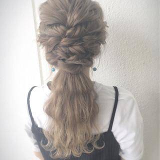 ポニーテール 外国人風 ヘアアレンジ ロング ヘアスタイルや髪型の写真・画像 ヘアスタイルや髪型の写真・画像