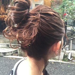 外国人風 ヘアアレンジ ショート セミロング ヘアスタイルや髪型の写真・画像