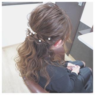 ハーフアップ 愛され ロング モテ髪 ヘアスタイルや髪型の写真・画像 ヘアスタイルや髪型の写真・画像